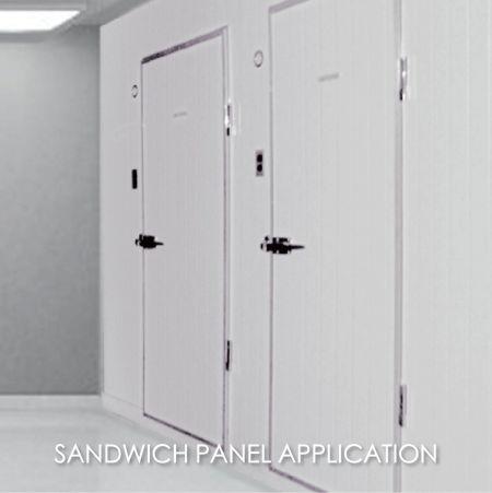 Panel emparedado - El uso de metal laminado para hacer una biblioteca de sala limpia puede crear la estética y la durabilidad