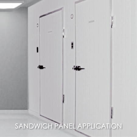 Sandwich Panel - The use of coated metal to make clean room library can increase the aesthetics and durability