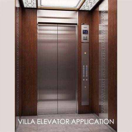 Elevator - Using laminated metal to decorate the elevator door panel can create the aesthetics and durability