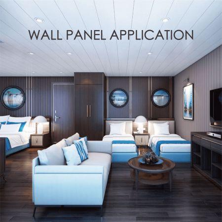 Bảng treo tường - Thay thế vách gỗ bằng kim loại phủ gỗ có thể tăng trang trí và độ bền