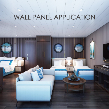 Wall Panel - Replacing wooden siding with wood-coated metal can increase decorative and durability
