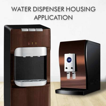 Water Dispenser Housing - Laminated metal and anti-fingerprint stainless steel increase the appearance and fashion sense