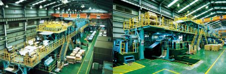 The Scene of the Lienchy Laminated Metal Film Production Line