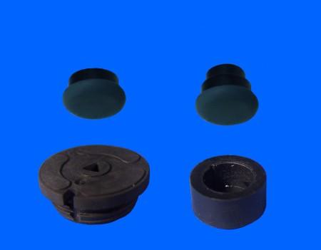 Pie de goma de plástico