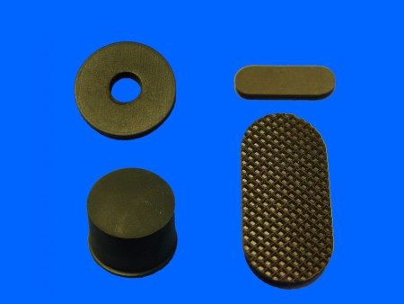 Pied en caoutchouc de silicone en plastique