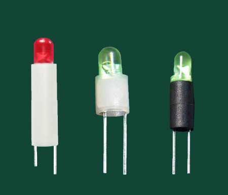 Ø3, Ø5 2 pin Cylinder LED Holder