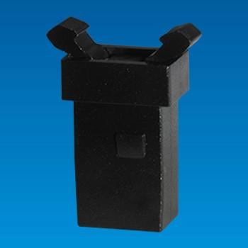 Kunststoffverschluss mit Metallverschluss und Metallstift