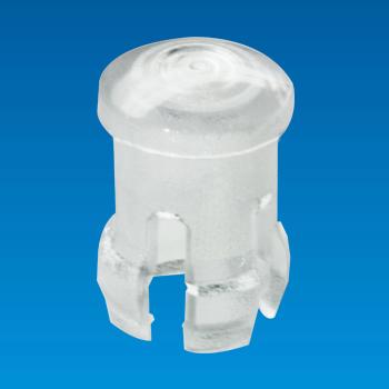 Tapa de LED transparente - Redonda - Casquillo LED EDK-02