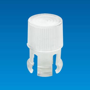 Tapa de LED transparente - Redonda - Casquillo LED EDK-1A