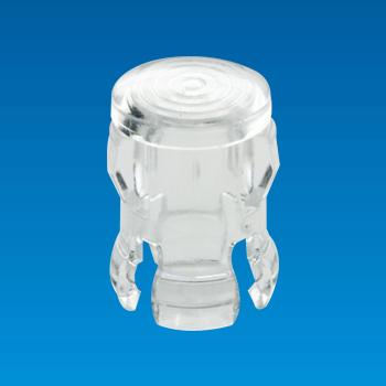 Tapa de LED transparente - Redonda - Casquillo LED EDK-5A
