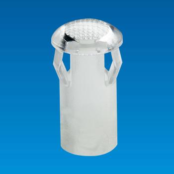 Tapa de LED transparente - Redonda - Casquillo LED EDN-05