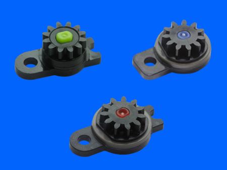 Amortiguador giratorio de plástico micro bidireccional