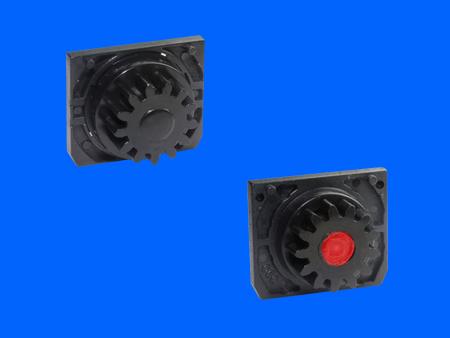 Amortiguador giratorio de plástico bidireccional deslizante