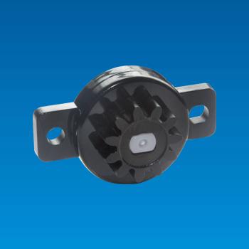 Amortiguador giratorio de plástico bidireccional