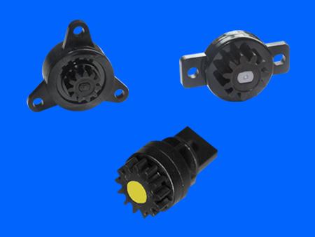 Bidirektionaler Kunststoff-Rotationsdämpfer mit Schraubbefestigung