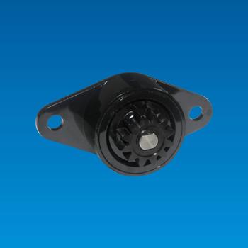 Amortiguador giratorio de plástico de alta torsión en una dirección