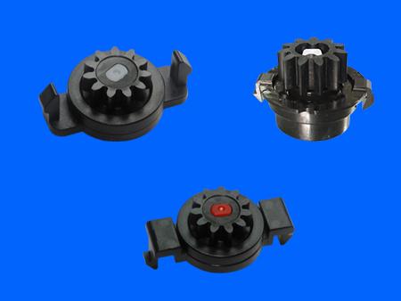 Amortiguador giratorio de plástico bidireccional Snap Fit