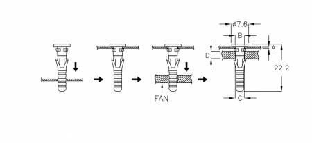 Fan Snap Rivet 風扇鉚釘 - Fan Snap Rivet 風扇鉚釘 SRD-22AT