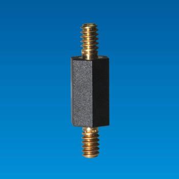 Soporte espaciador hexagonal con tornillo metálico - Espaciador hexagonal THT-6U12