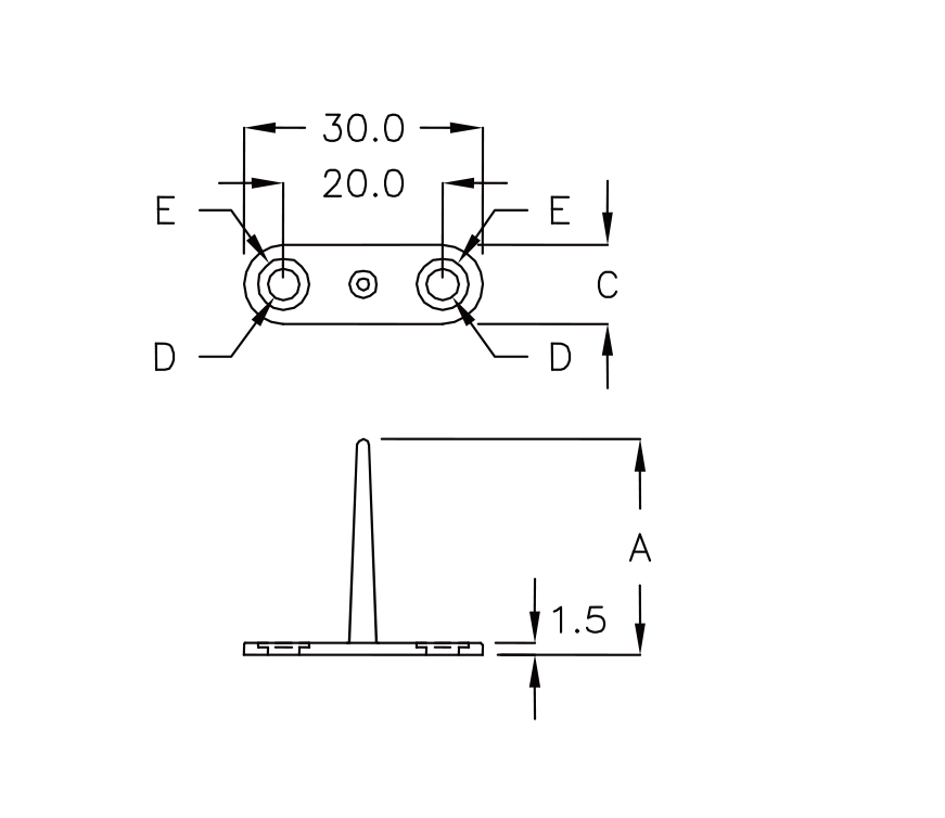 spacer for backlight module- screw  fjw-25t