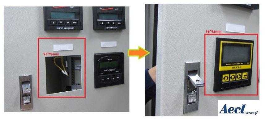 Figure 3: BTU meter installed in industrial control panel