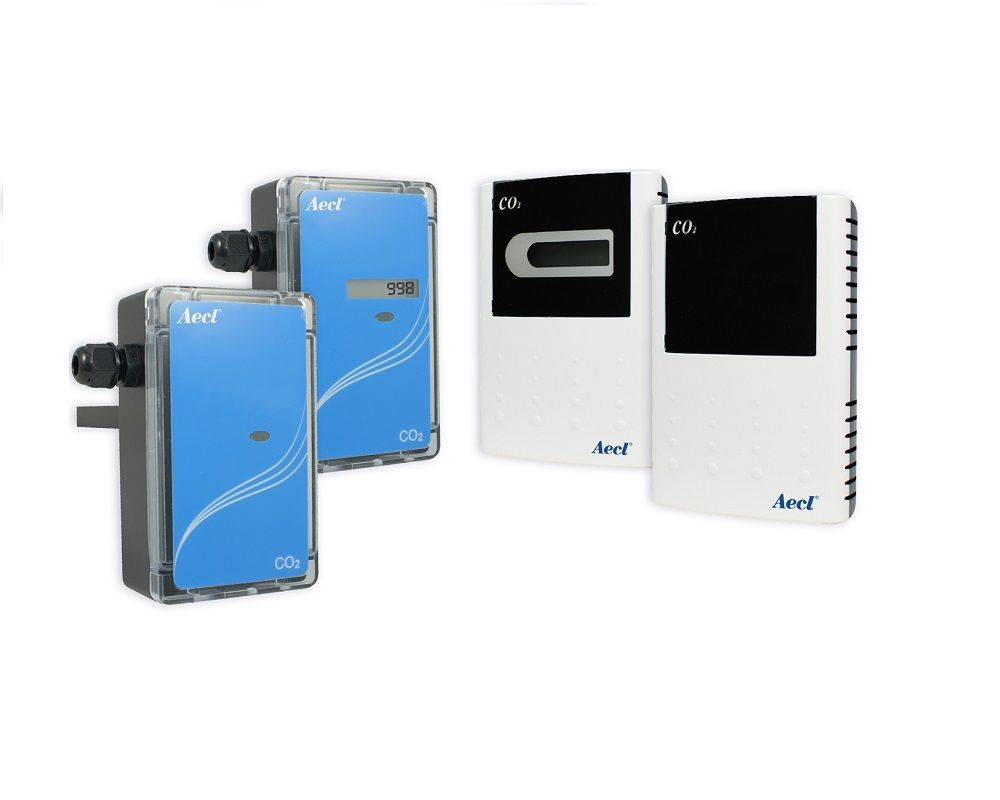 Wall mount, duct mount and remote probe carbon dioxide(CO2) transmitters