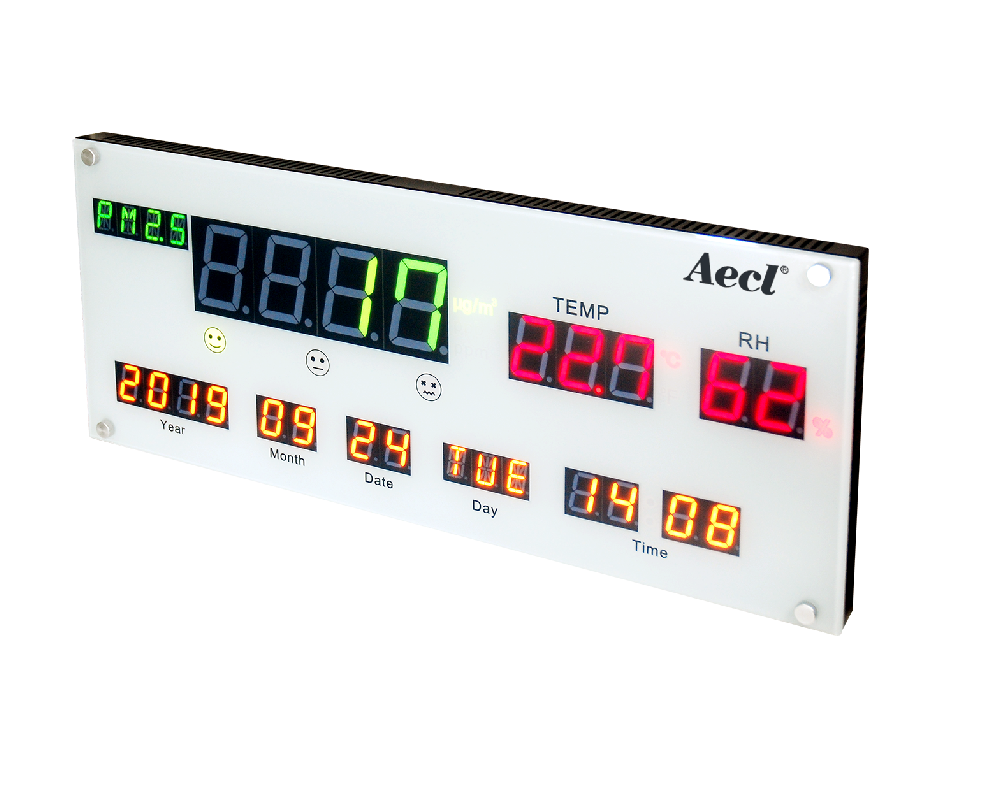 wireless display for temperature, humidity, PM2.5 and CO2 measurement