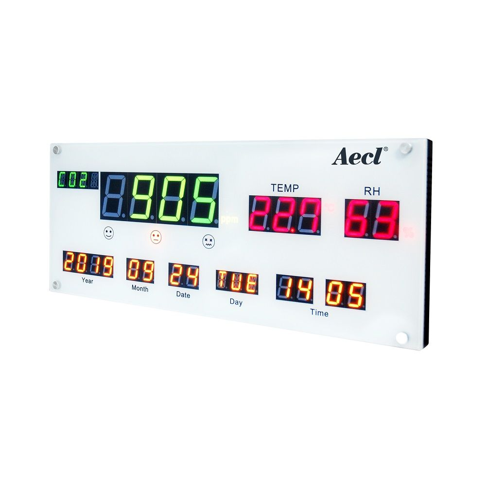 All in one indoor air quality display