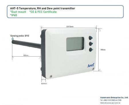 Transmissor LoRa de temperatura e umidade para montagem em duto