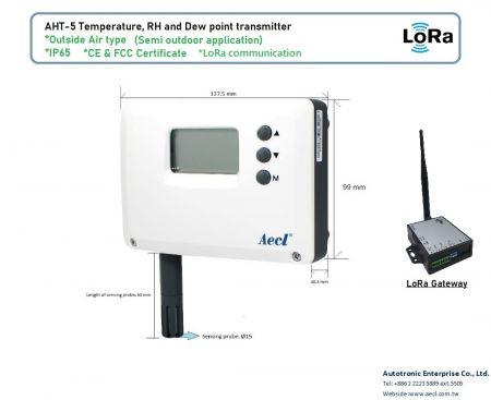 Air exterior LoRa RH e transmissor de temperatura