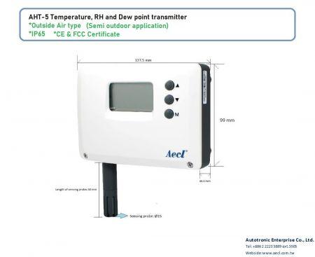 LoRa RH do ar externo e transmissor de temperatura
