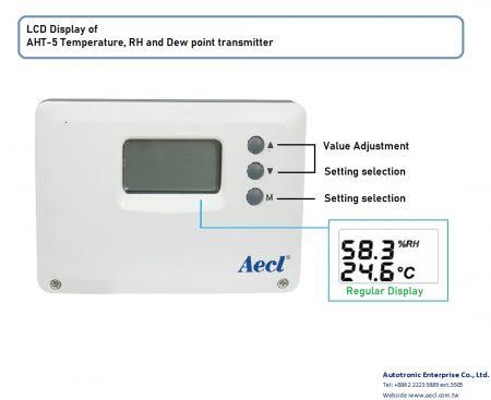 Transmissor de montagem em duto, tipo separado e temperatura do ar externo e transmissor RH