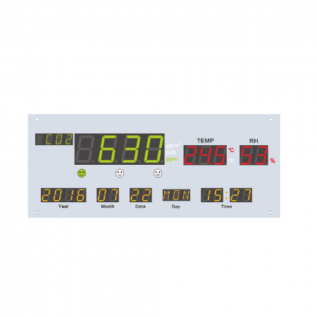 4-in-1 Air Quality Display - 4-in-1 Air Quality Display board for PM2.5, CO2, Temperature and Humidity measurement