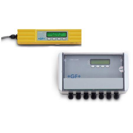 Medição de fluxo ultrassônico - + GF + SIGNET Sensores de fluxo ultrassônicos