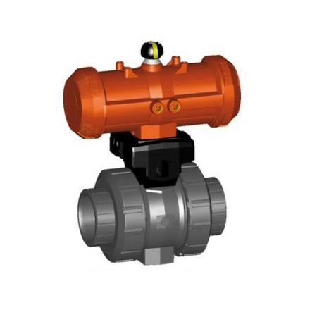 Válvula de esfera pneumática