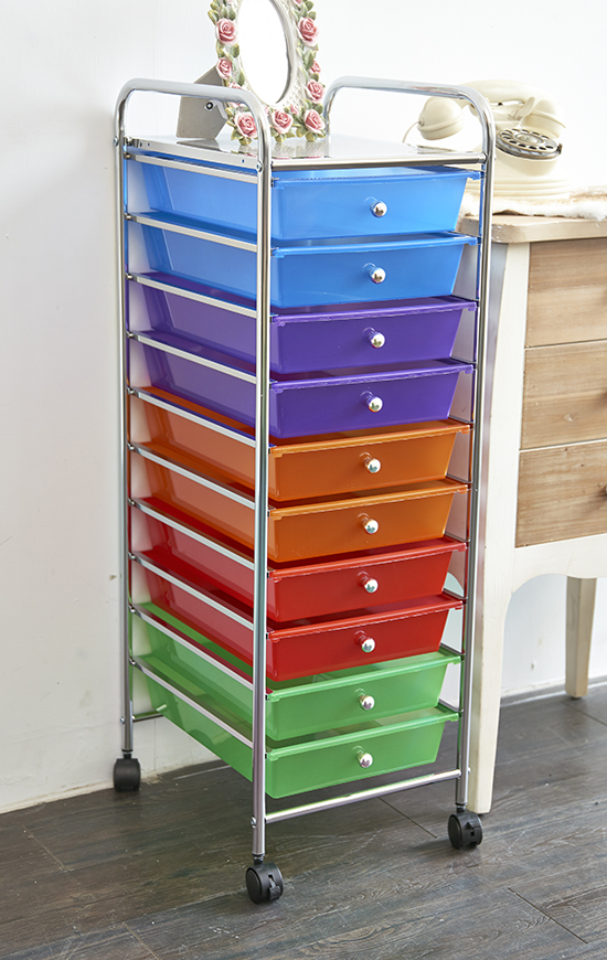 The mobile drawer organizer is designed to make organizing your life easier and more attractive