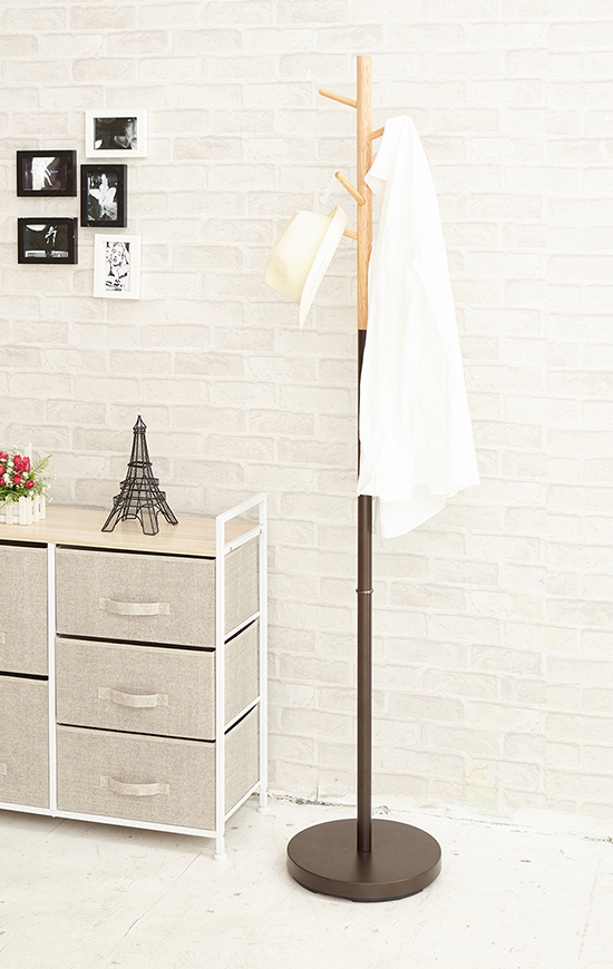 This standing coat stand is designed to be resistant enough to handle your entire family's coats and jackets
