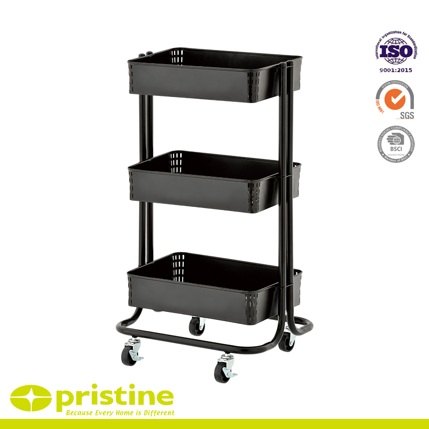 646eb8733337 3 Tier Shelf Trolley Supply & Metal Furniture Manufacturing - pristine