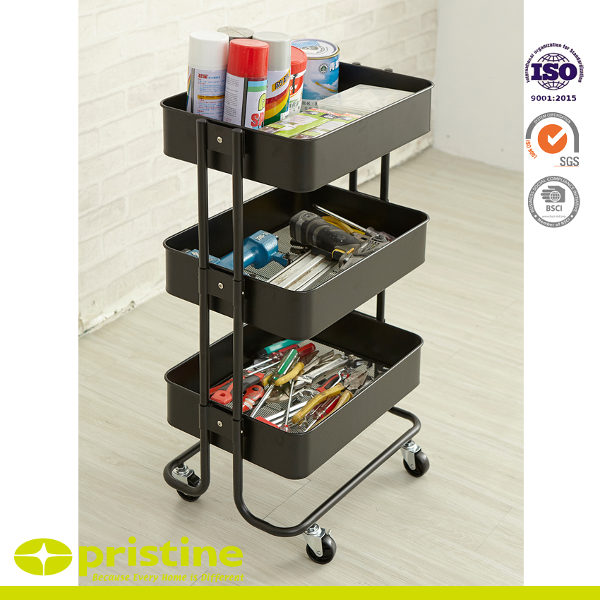 fc3323439a16 3-Tier Storage Cart Supply & Metal Furniture Manufacturing - pristine