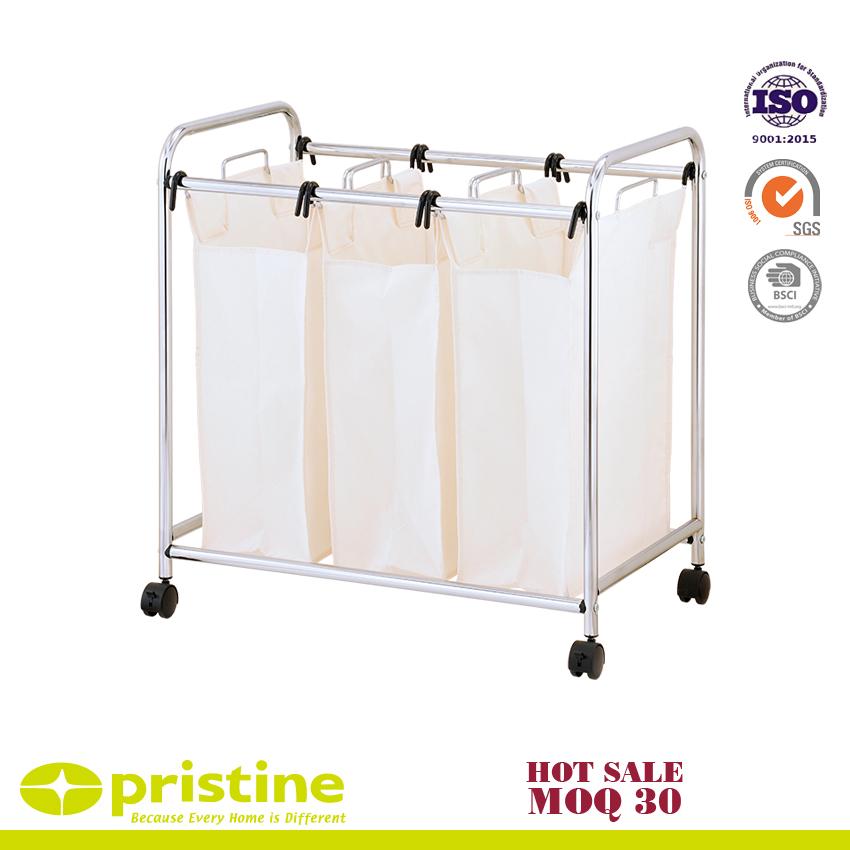HeavyDuty 3-Bag Laundry Sorter Cart | Metal Furniture