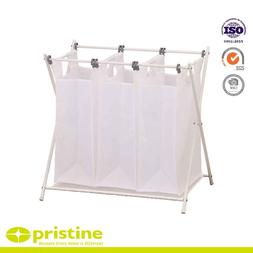 Laundry Basket with 3 Removable Bags - Laundry organizer