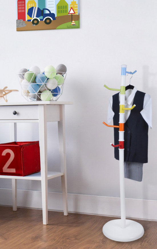 Kids Coat Rack Tree with Metal Base