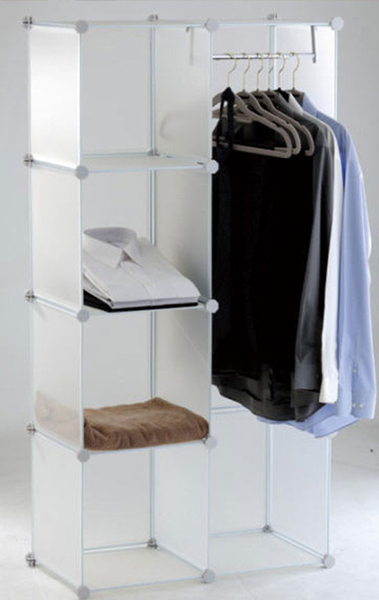 The storage cube keeps your clothes, boots, bags, toys, etc. safely stored in an organized way