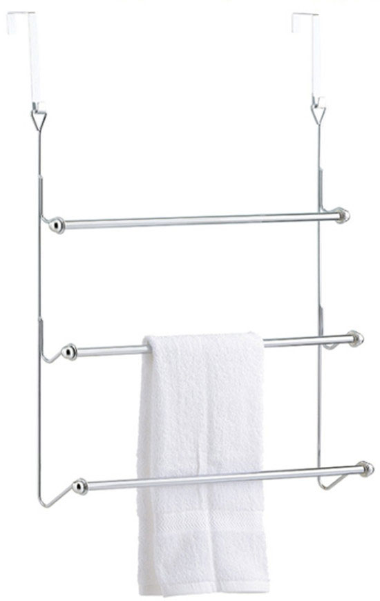 Over the door towel hook creates the extra space in your bathroom for towels, toiletries and more