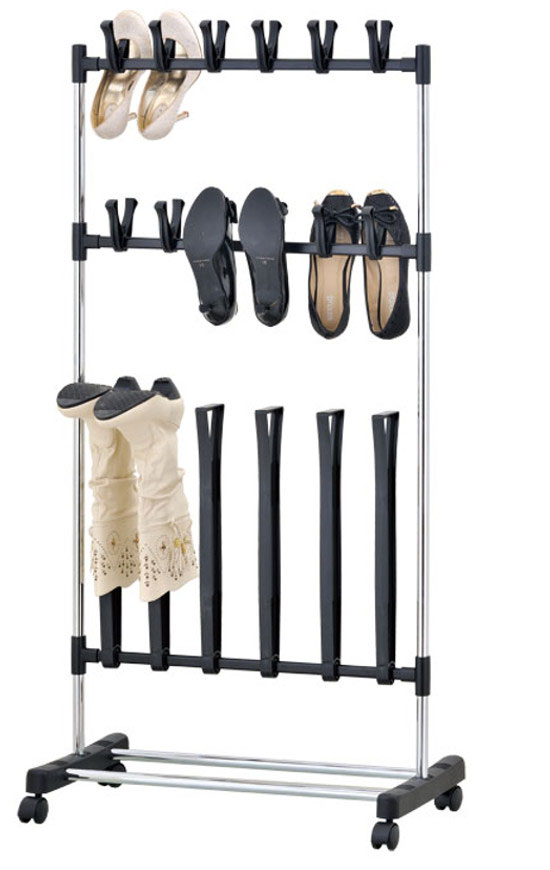 Organize boots shoes rack in one convenient place and keep them freshened and in shape