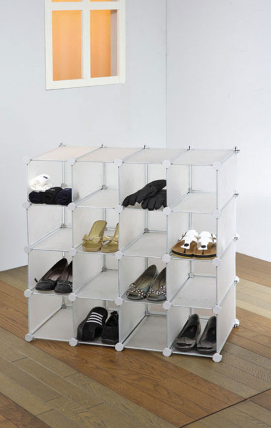 Allows you assemble it into different shapes to fit for the different place