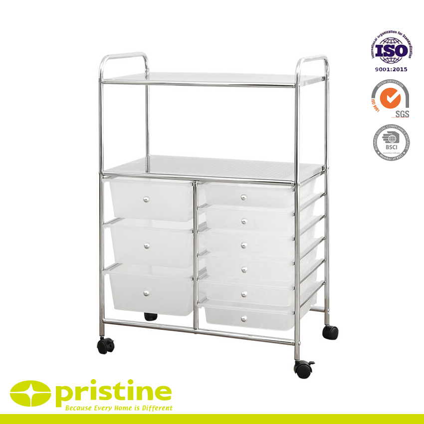 9 Plastic Drawer Trolley Cart - organizer cart with 9 drawers