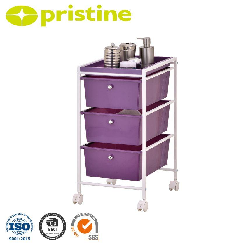 3 Plastic Drawer Rolling Trolley Cart - 3 plastic drawer organizer