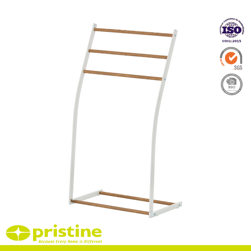 Free Standing Towel Rack With Wood Grain - Towel hanger