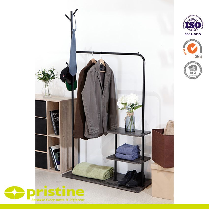 Metal Garment Hanger Tree Style Combo Black - Clothes hat hanger tree stand